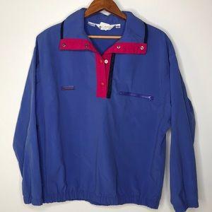 Vintage Columbia windbreaker pullover